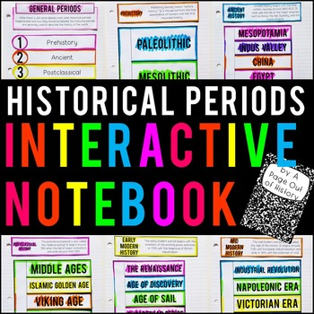 FREE Historical Periods Interactive Notebook and Graphic Organizers