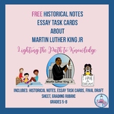FREE: Historical Notes & Task Cards for Martin Luther King