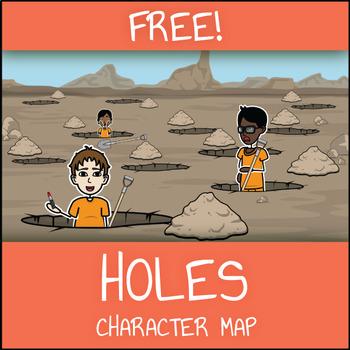 FREE Holes Character Map Worksheet