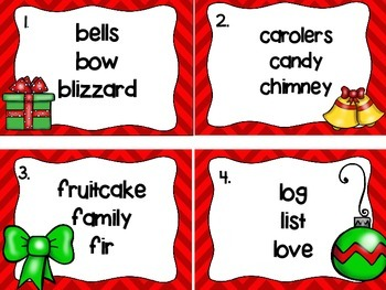FREE Holiday ABC Order Task Cards
