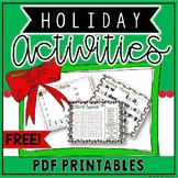 FREE Holiday Activities