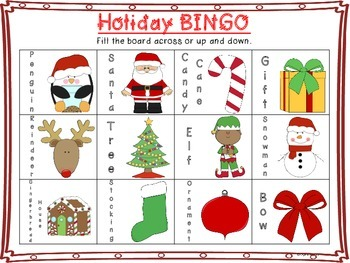 FREE Holiday Bingo!