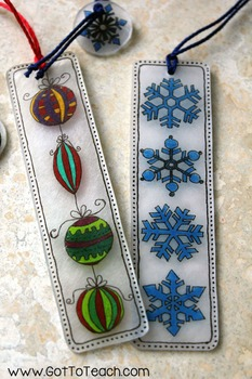 FREE! Holiday Bookmark Craft