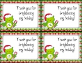 FREE Holiday Christmas Thank You Cards (also in Spanish)
