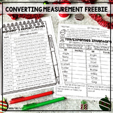 FREE Holiday Converting Customary Units of Length FREEBIE