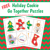 FREE Holiday Christmas Cookie Associations Puzzles
