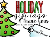 FREE Holiday Gift Tags & Thank Yous
