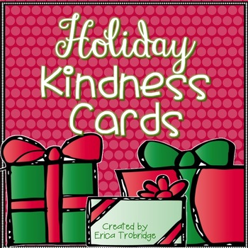 FREE! Winter Holiday Kindness Cards
