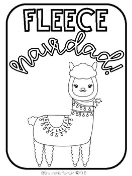 Free Holiday Llama Coloring Pages