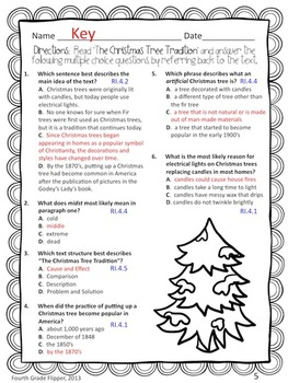 FREE Informational Text Dependent Questions Claims Details Holiday {Common Core}