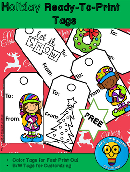 FREE - Holiday Ready-To-Print Christmas Tags