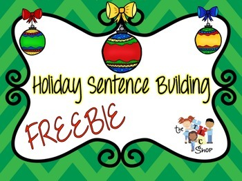 FREE! Holiday Sentence Building