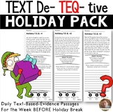 FREE Holiday Text-Evidence Passages and Questions: Grades 3/4