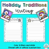 FREE Holiday Traditions Writing: Holiday in My Home