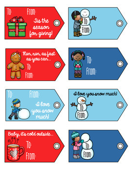 FREE Holiday & Winter Gift Tags