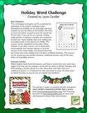 FREE Holiday Word Challenge