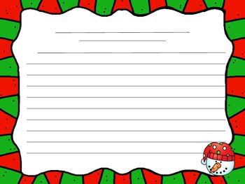 FREE Holiday Writing Menu