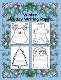Winter Holiday Writing Paper - FREE