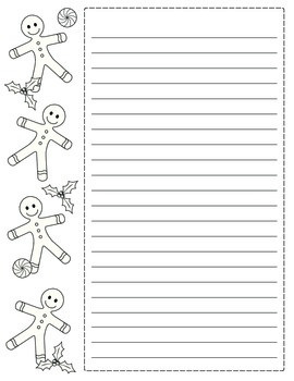 FREE!  Holiday Writing Paper