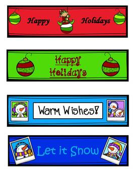 FREE Holiday and Winter Bookmarks