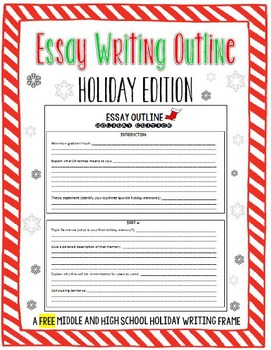 FREE Winter Holiday/Christmas Essay Outline