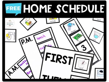FREE Home Schedule for School Closures
