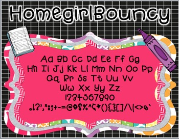 FREE HomegirlBouncy (Personal and Commercial Use Font)