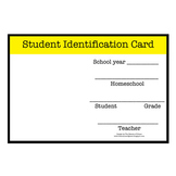 FREE Homeschool Student and Teacher Identification Card
