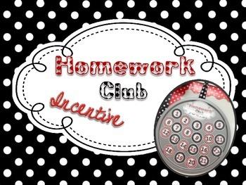 Homework Club Incentive Pack: Black, White, & Red Polka Dots