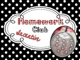 Homework Club Incentive Pack: Black, White, & Red Polka Dots
