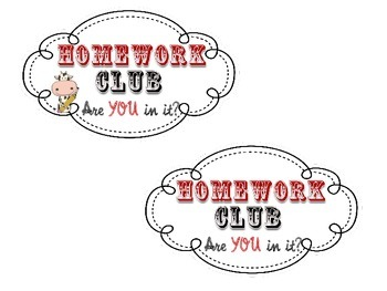 Homework Club Incentive Pack: Cow & Western Theme