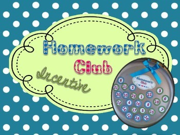 Homework Club Incentive Pack: Sabrina's Color Theme