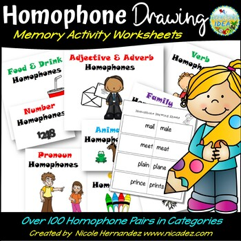 Homophone Memory Sheets-Draw to Remember Set
