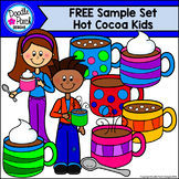 FREE Hot Cocoa Kids Clip Art Set - Doodle Patch Designs