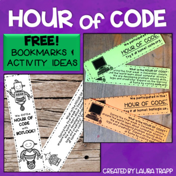 FREE!  Hour of Code Bookmarks and Activity Ideas