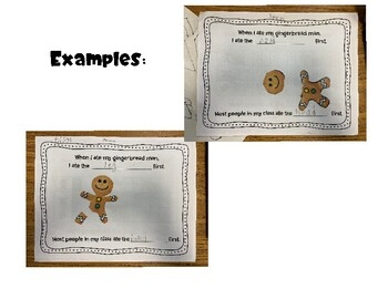 How Do You Eat Your Gingerbread Man? Graph, Data Collection and Activity Page
