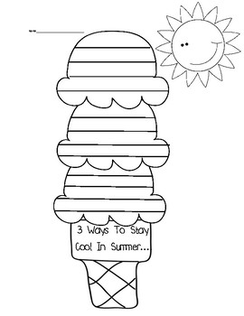 FREE How To Stay Cool in Summer / How To Stay Warm in Winter Writing Prompts