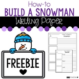 FREE How to Build a Snowman Writing Prompt Paper