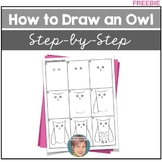 FREE - How to Draw an Owl - Directed Drawing Owl Project