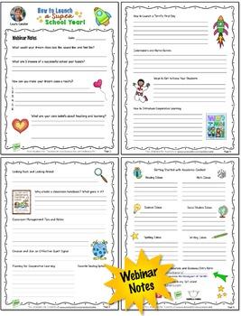Back to School Webinar Handouts (FREE)
