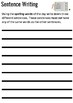 FREE How to Write a Sentence Worksheet