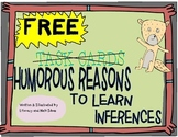 FREE--Humorous Reasons to Learn Inferences (Task Cards)