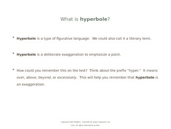 FREE Hyperbole and the Epic PowerPoint for The Odyssey by Robin Lister
