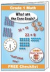 "Grade 1 FREE ""I Can"" Leaflet of Goals for Common Core Math"