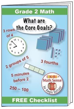 """Grade 2 FREE """"I Can"""" Leaflet of Goals for Common Core Math"""