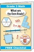"""Grade 3 FREE """"I Can"""" Leaflet of Goals for Common Core Math"""