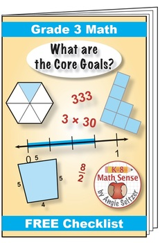 "Grade 3 FREE ""I Can"" Leaflet of Goals for Common Core Math"