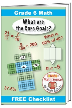 "Grade 6 FREE ""I Can"" Leaflet of Goals for Common Core Math"