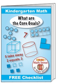 "Grade K Kindergarten FREE ""I Can"" Leaflet of Goals for Common Core Math"