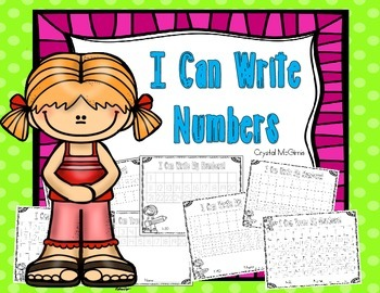 FREE I Can Trace and Write Numbers To 5, 10, 20, 30, 40, 50, & 100